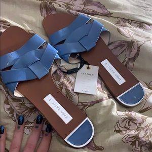 Genuine leather ZARA sandals